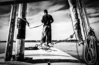 Sailing On The Nile Print by Erik Brede