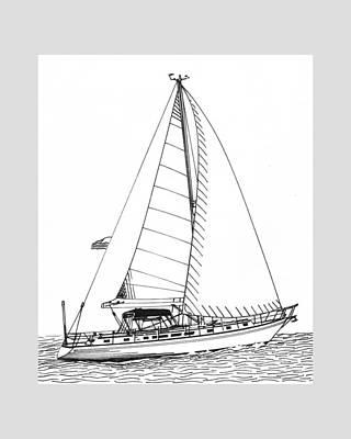Drawing Photograph - Sailing Sailing Sailing by Jack Pumphrey