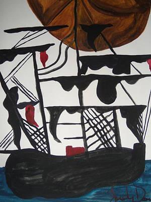 Sailing Ship Print by Judy Dow
