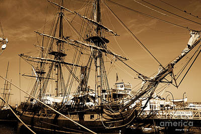 Far Side Photograph - Sailing Ships by Cheryl Young