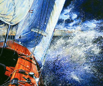 Sailing Souls Print by Hanne Lore Koehler