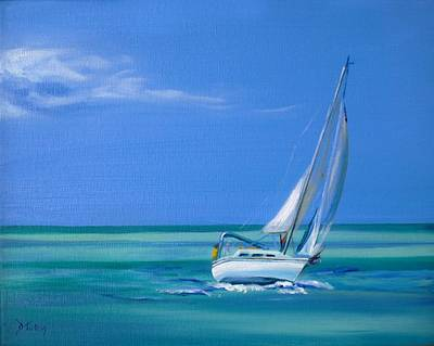 Boat Painting - Sailing The Seas by Donna Tuten