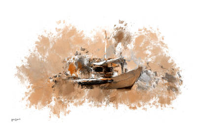 Boats In Water Digital Art - Sailing Time by Lourry Legarde