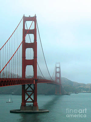 Best Sailing Photograph - Sailing Under The Golden Gate Bridge by Connie Fox