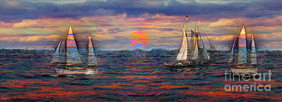 Sailing While Dreaming Print by Jeff Breiman