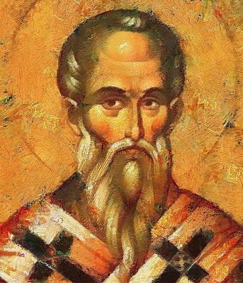 Saint Alexander Of Konstantinopol Icon Print by Yury Malkov