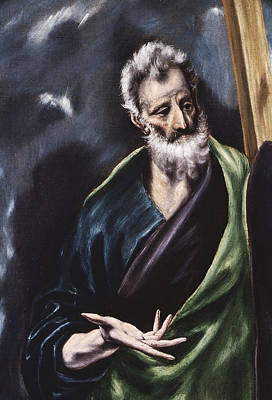 Stencil Art Painting - Saint Andrew by Celestial Images