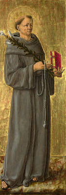 Saint Anthony Of Padua Print by Giorgio Schiavone