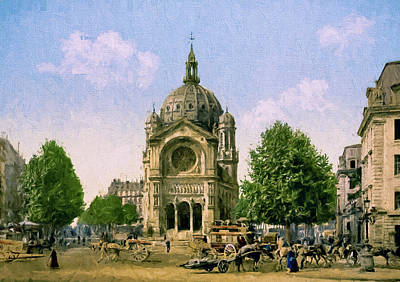 Old Time Painting - Saint Augustin De Paris by John K Woodruff