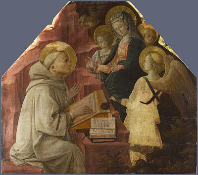 Vision Painting - Saint Bernard's Vision Of The Virgin by Fra Filippo Lippi