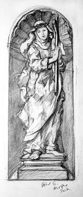 Saint Catherine Of Siena Print by Peter Murphy