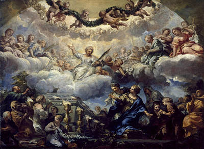 Pietro Da Cortona Painting - Saint Constantia's Vision Before The Tomb Of Saints Agnes And Emerentiana by Pietro da Cortona