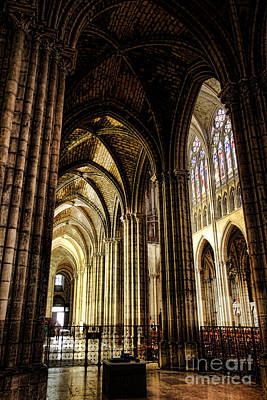 Saint Denis Cathedral Print by Olivier Le Queinec