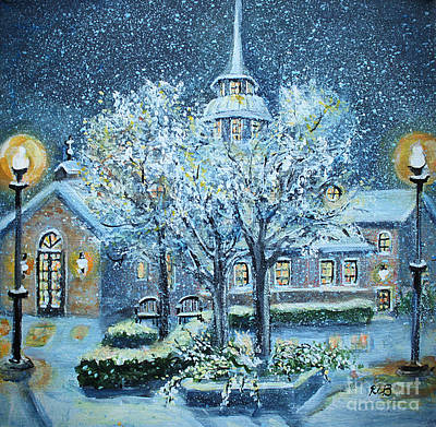 Rhodes Painting - Saint Dominic Chapel Providence College by Rita Brown