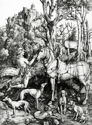 Durer Painting - Saint Eustace by Albrecht Durer or Duerer