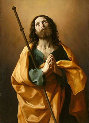 Guido Reni Painting - Saint James The Great by Guido Reni