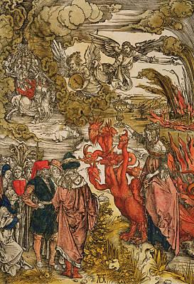 Saint John In The Desert Print by Albrecht Durer or Duerer