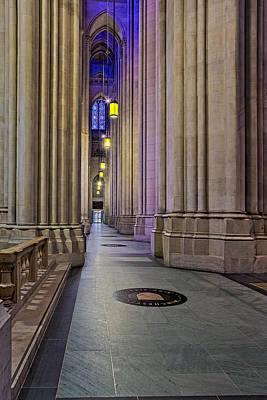 Religion Photograph - Saint John The Divine Cathedral Columns by Susan Candelario