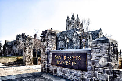 Catholic Photograph - Saint Josephs University by Bill Cannon