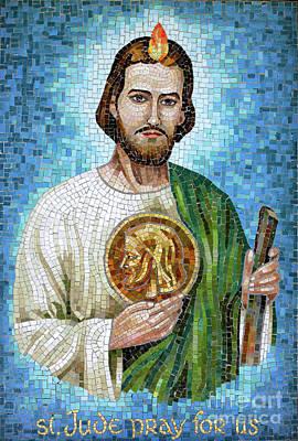 Saint Jude Mosaic Print by William Kuta