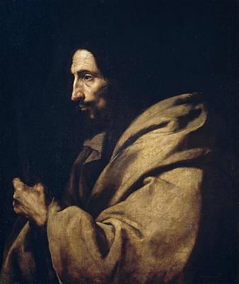 Saint Jude Thaddeus Print by Jusepe de Ribera