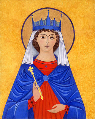 Greek Icon Painting - Saint Katherine by Jacqueline Savidge