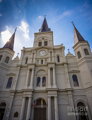 Saint Louis Cathedral Entrance Print by Inge Johnsson