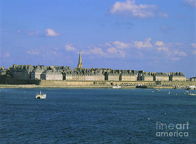 Water Vessels Photograph - Saint Malo. Ille Et Vilaine. Brittany. Bretagne. France. Europe by Bernard Jaubert