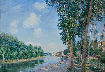 Alfred Sisley Painting - Saint Mammes June Sunshine by Alfred Sisley