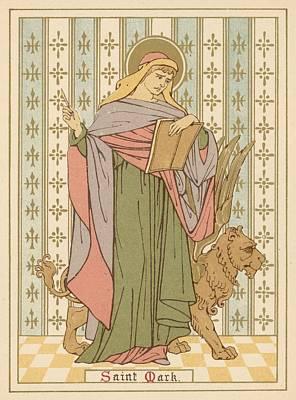 Saint Mark Print by English School