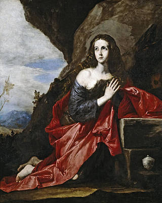 Mary Magdalene Painting - Saint Mary Magdalene In The Desert by Jusepe de Ribera