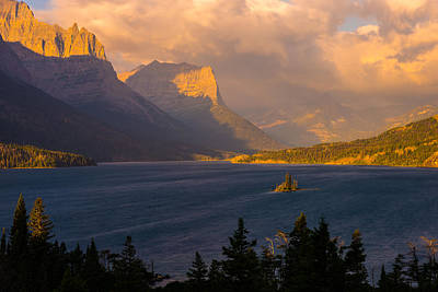 Montana Landscape Photograph - Saint Mary Sunrise by Joseph Rossbach