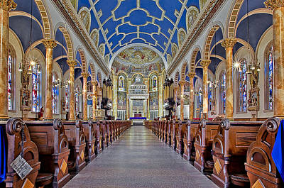 Saint Michael Photograph - Saint Michael Catholic Church by Susan Candelario