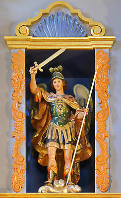 Saint Michael The Archangel Print by Christine Till