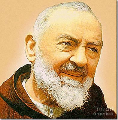 Saint Padre Pio Print by Archangelus Gallery
