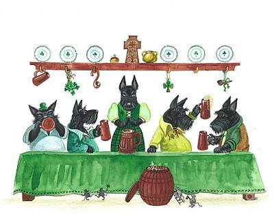 Animation Painting - Saint Patricks Day Macduff by Margaryta Yermolayeva