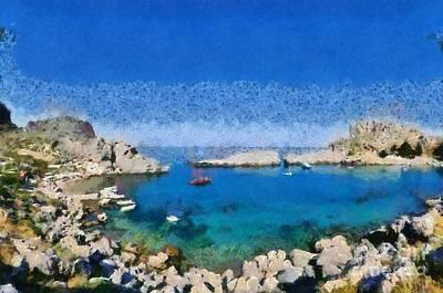 Panoramic Painting - Saint Paul Bay by George Atsametakis