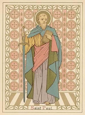 Religion Drawing - Saint Paul by English School