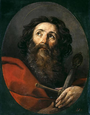 Guido Reni Painting - Saint Paul by Guido Reni