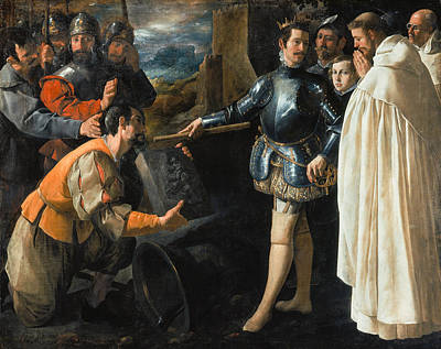Saint Peter Nolasco Recovering The Image Of The Virgin, 1630 Oil On Canvas Print by Francisco de Zurbaran