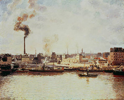 Saint-sever Quay At Rouen, 1896 Print by Camille Pissarro