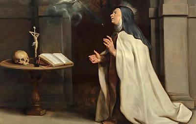 Vision Painting - Saint Teresa Of Avila's Vision Of The Holy Spirit by Peter Paul Rubens