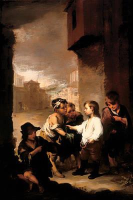 Giving Painting - Saint Thomas Dividing His Clothes Among Beggar Boys by Mountain Dreams