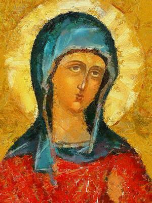Saint Valentina Icon Print by Yury Malkov
