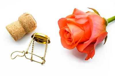 Photograph - Saint Valentine Rose by Alain De Maximy