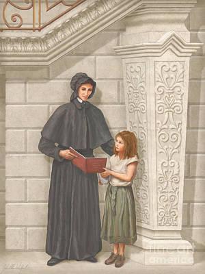 St Elizabeth Painting - Sainta Elizabeth Ann Seton by John Alan  Warford