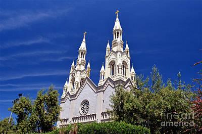 Saints Peter And Paul Church In San Francisco Print by Jim Fitzpatrick