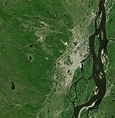 Satellite Image Photograph - Sakha Republic by Jaxa/european Space Agency