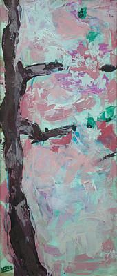 Sakura Painting - Sakura Left Panel by Lovet Harris