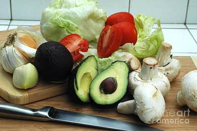 Salad Preparation Original by Eduardo Rubin